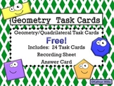 Geometry Task Cards FREE