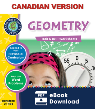Geometry - Task & Drill Sheets Gr. PK-2 - Canadian Content
