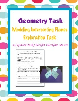 Geometry [Task] - Modeling Intersecting Planes Exploration