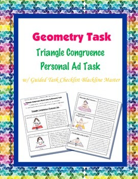 Geometry Task (Project): Triangle Congruence Personal Ad a