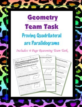 Geometry {Team Task} ~ Proving a Quadrilateral is a  Paral