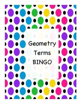 Geometry Vocabulary Game - BINGO