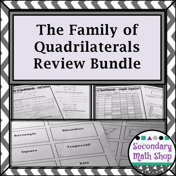 Quadrilaterals - The Family of Quadrilaterals Review Bundle