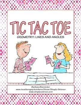Lines and Angles Tic Tac Toe ★ FREEBIE ★