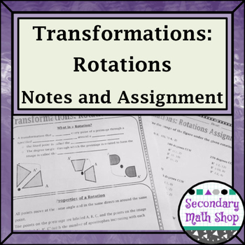 Transformations - Geometry Transformations Rotations Notes