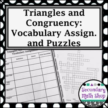 Congruent Triangles - Unit 4: Congruency Unit -  Vocabular