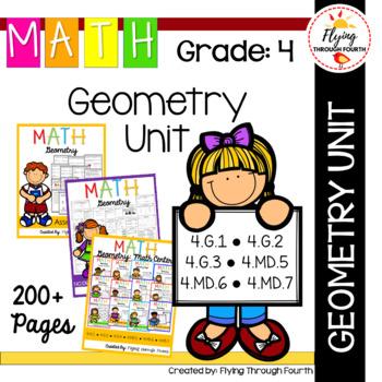 Geometry UNIT Fourth Grade Math 4.G.1, 4.G.2, 4.G.3,  4.MD