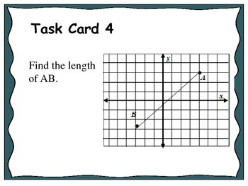 Geometry Unit 1 Task Cards Review - Midpoint Distance Slop