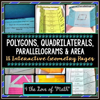 Polygons, Quadrilaterals, Area: Geometry Interactive Noteb