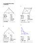 Geometry Unit 8 Congruent Triangles 2 column Proofs SSS SA