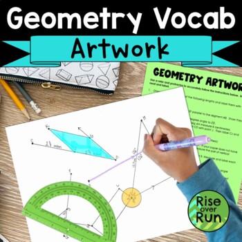 Geometry Vocabulary Artwork Activity