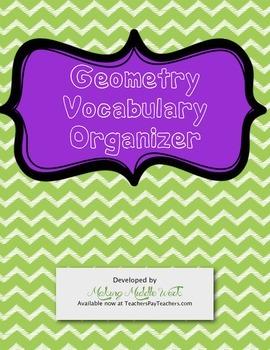 Comprehensive & Interactive Geometry Vocabulary Organizer