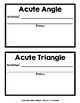Geometry Vocabulary: Student-Created Book w/ Definitions/T