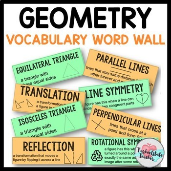 Geometry Vocabulary Word Wall