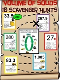 Geometry: Volume of Solids Scavenger Hunts 10-Pack