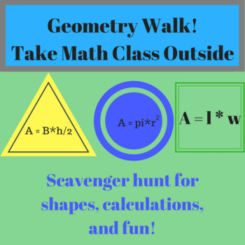Geometry Walk - Worksheet for Students to Find Circle Meas