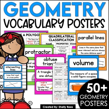 Geometry Word Wall - 2 and 3 Dimensional Objects
