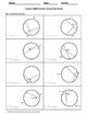 Geometry Worksheet: Chords - Vertex Inside the Circle