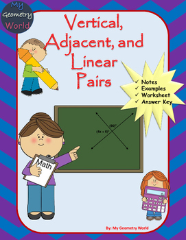 Geometry Worksheet: Vertical, Adjacent, and Linear Pair Angles