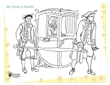 George Frideric Handel Printable Coloring Page