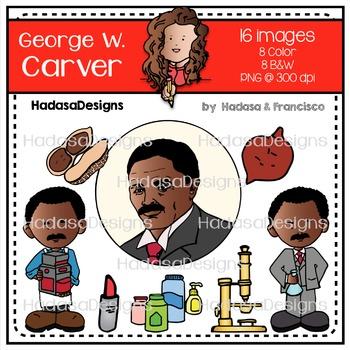 George W. Carver Clip Art Set