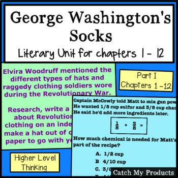 George Washington's Socks Literary Unit - Chapters 1-12 Po