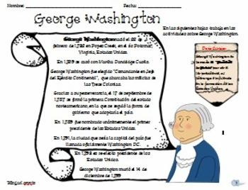 George Washington Actividades