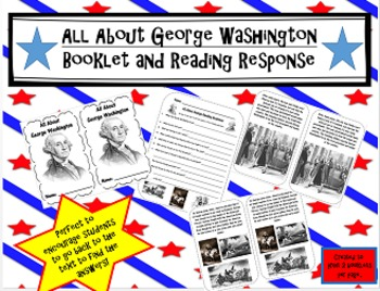 George Washington Booklet and Reading Response-President's