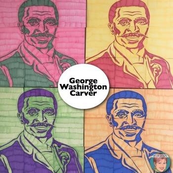 George Washington Carver Collaboration Portrait Poster - B