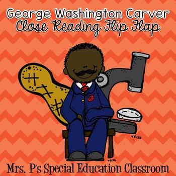 George Washington Carver Close Reading Flip Flap
