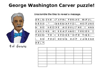 George Washington Carver Epitaph Message Puzzle