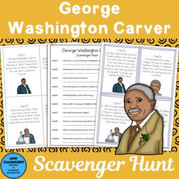 George Washington Carver Scavenger Hunt