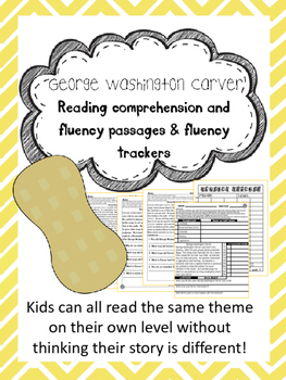 George Washington Carver fluency and comprehension leveled