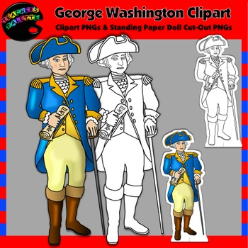 George Washington Clipart and Paper Dolls