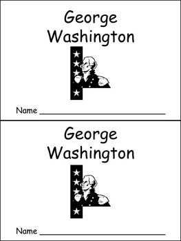 George Washington- Early Reader Kindergarten and First Gra