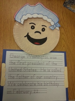George Washington Hat and Paper Plate Pattern with Writing