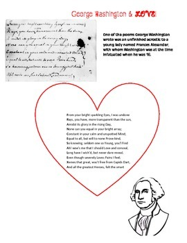 George Washington, Love and Acrostic poems