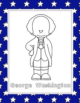 George Washington (NO PREP) pages for PreK-1st Grade