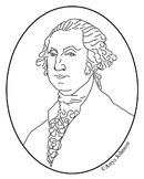 George Washington Clip Art, Coloring Page or Mini Poster