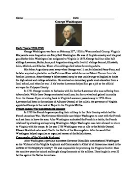 George Washington Review Article - Questions - Vocabulary