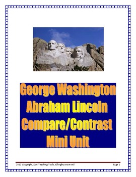 George Washington and Abraham Lincoln Compare/Contrast Mini Unit