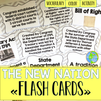 George Washington and John Adams Flash Cards