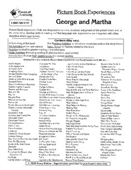 George and Martha Literature Guide