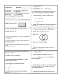 Georgia Accelerated Math 1 Targets Set 1