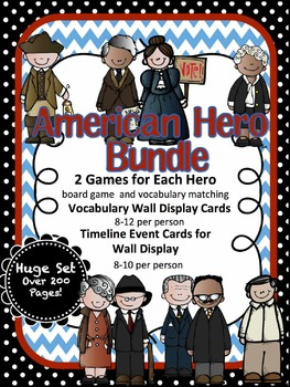 American Hero BUNDLE-Revere, Douglass, Anthony, Bethune, R