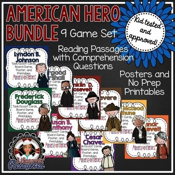 American hero bundle - Georgia 3rd Grade -Revere, Chavez,