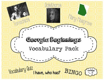 Georgia Beginnings Vocabulary Pack