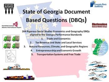 Georgia Economics and Geographic Regions DBQs - 264 DBQs a