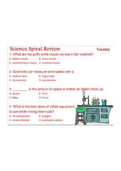 Georgia (GPS) 4th Grade Science Spiral 5 - Differentiated