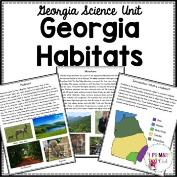 Georgia Habitats- 3rd Grade Georgia Science Unit